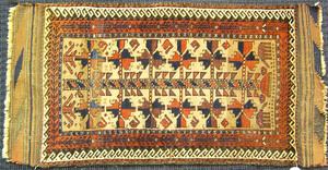 Two Baluch mats, ca. 1910, 4' x 2' and 2'9