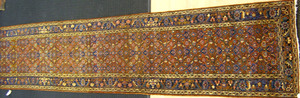 Hamadan runner, ca. 1930, with overall floral desi