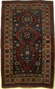 Kazak throw rug, ca. 1920, with 3 medalliions on a