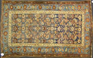 Hamadan throw rug, ca. 1920, together with a Lilih