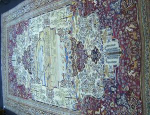 Palace size Kirman rug, ca. 1910, with unusual cen