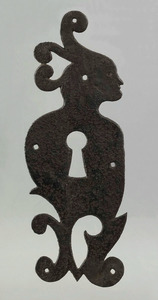 Exceptional wrought iron door escutcheon, 18th/19t