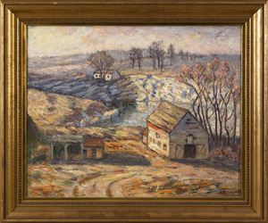 Howard Ellis(American, early 20th c.), oil on canv
