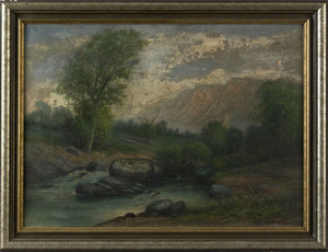 J.K. Righter(American, early 20th c.), oil on canv