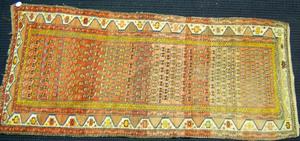 Turkish throw rug, ca. 1940, 8'10