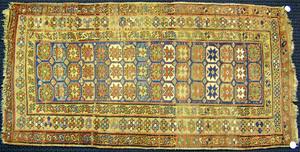 Caucasian throw rug, ca. 1930, 7' x 3'8