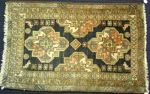 Two Caucasian throw rugs, largest - 5' x 3'2