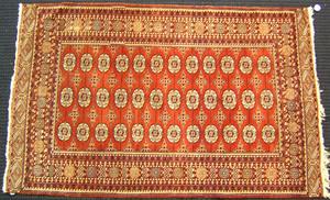 Bohkara throw rug, ca. 1950, 7'2