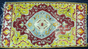 Two oriental mats, together with a hooked mat.