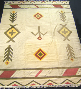 South American woven rug, 11'7