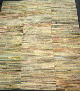 Roomsize rag rug, 10' x 8'8
