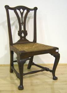 George II mahogany dining chair, ca. 1760.
