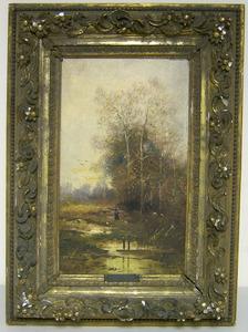 C.H. Lissa(19th c.), oil on canvas landscape, sign