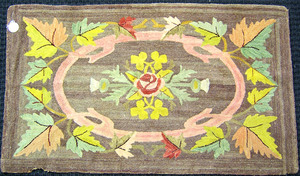 Hooked rug, early 20th c., 4'2