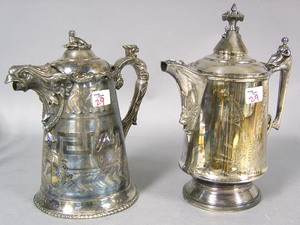 Reed & Barton silver plated water pitcher, 14