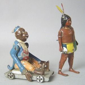Two German painted tin toys, early 20th c., to inc