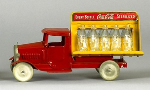Metalcraft painted tin Coca-Cola truck, 1930's, 10