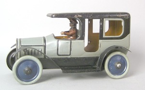 Carl Bubb painted tin limousine, early 20th c., 11