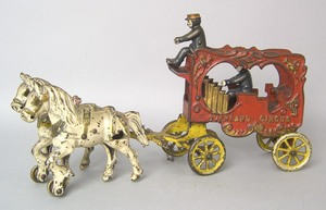 Kenton cast iron Overland circus wagon with driver