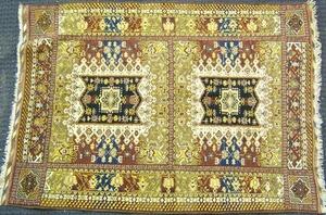 Turkish throw rug, ca. 1960, 5'2