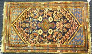 Three Hamadan mats, ca. 1935, 4' x 2'6