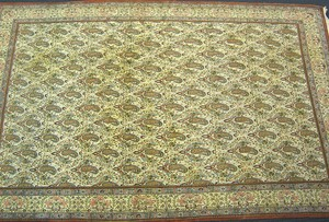 Qum carpet, ca. 1945, with overall boteh design on