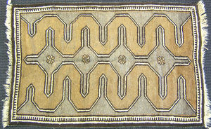 Southeast Persian throw rug, ca. 1940, with four p