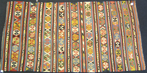 Shirvan Kilim rug, ca. 1900, with striped design,'