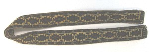 Turkoman sash, ca. 1900, with repeating medallions