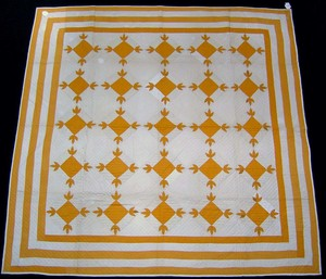 Maine applique quilt, ca. 1930, with oak leaf vari
