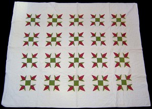 Pennsylvania applique quilt, late 19th c., with re