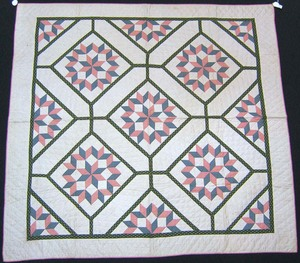 Vermont applique quilt, ca. 1900, with carpenternh