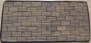 American hooked rug in a bricks patterns, ca. 1900