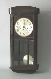 Mahogany wall clock, early 20th c., 30