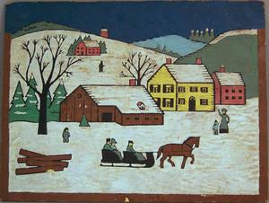 David Y. Ellinger(American,1913-2003) - Oil on boa