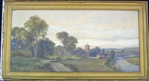 John Faulkner(Irish, 1835-1894) - Watercolor lands
