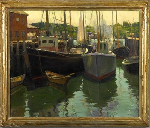 Harry Leith-Ross(American, 1886-1973) - Oil on can