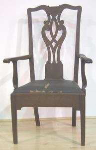Pennsylvania Chippendale cherry armchair, ca. 1800