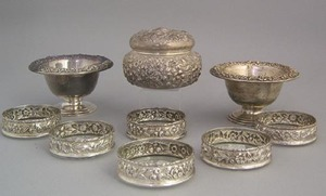 S. Kirk & Son silver repousse table articles to in