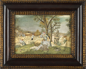 Montage on paper depicting a scene from the BibleT
