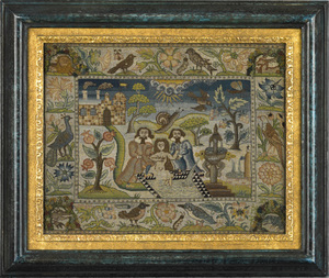 Rare English needlepoint picture
