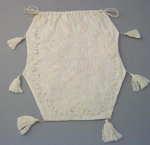 Massachusetts trapunto white work drawstring sewin