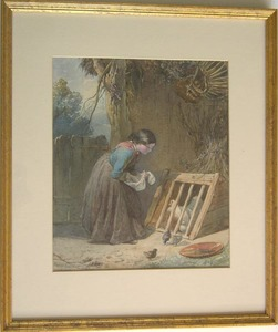 Walter Goodall(1830-1889) - Watercolor on paper of