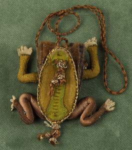 Very fine English sweetmeat purse, early 17th c.,n
