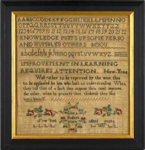 Staten Island, New York silk on linen needlework s