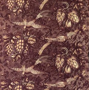 Length of chintz fabric, ca. 1830, French stipplen