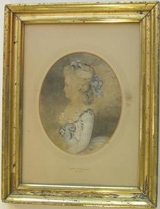 John Downman(British, 1750-1824) - Pastel and char