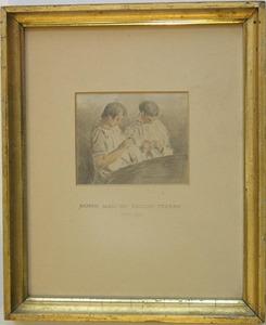 English School, early 19th c. - Watercolor portrai