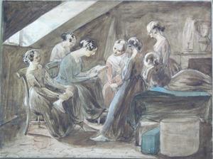 English School, early 19th c. - Three watercolor s