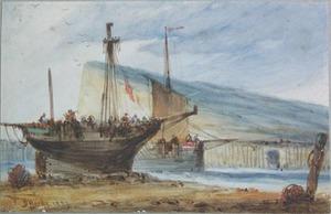 English School, early 19th c. - Three watercolor c